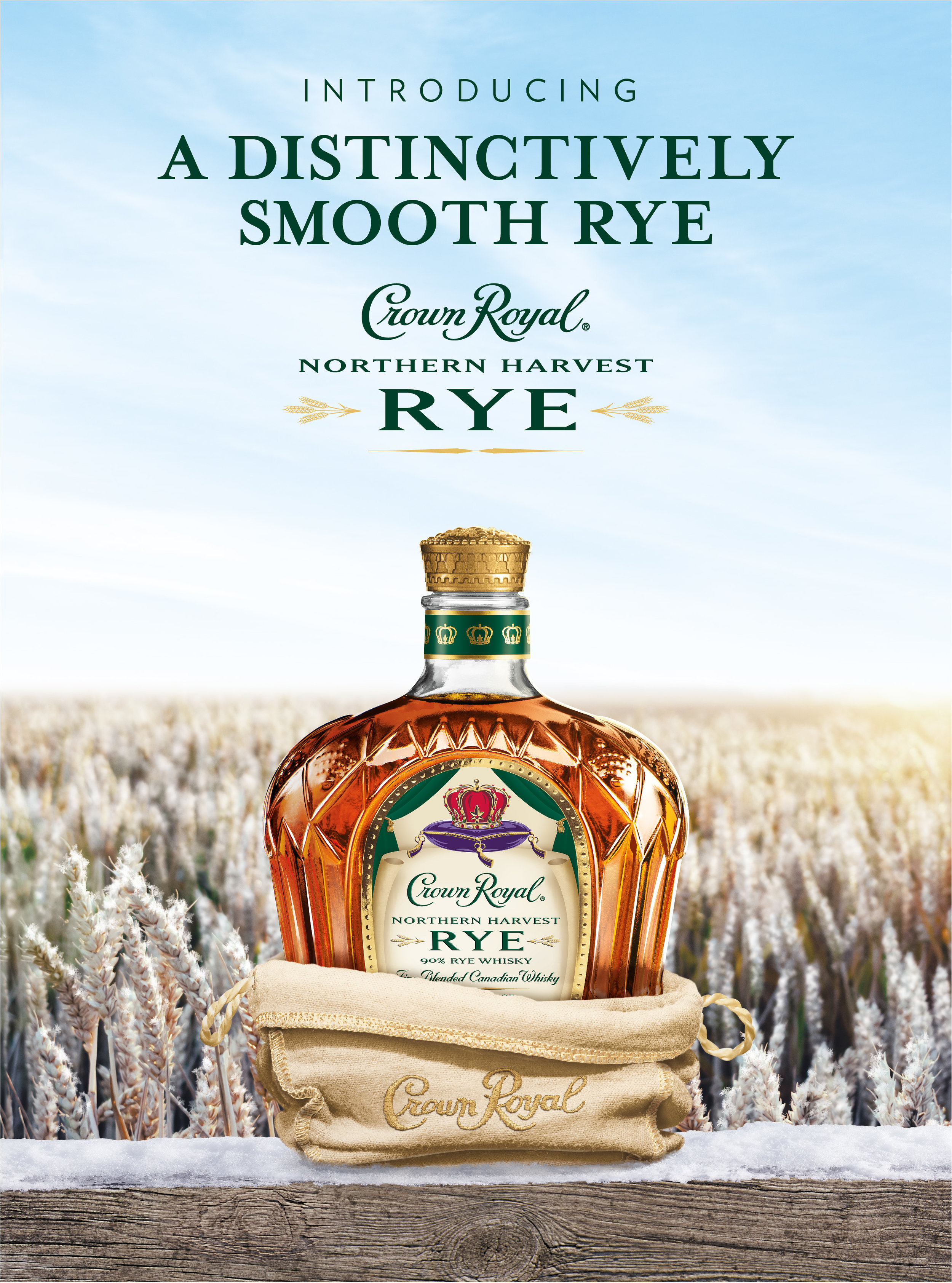 Launch creative for Crown Royal Northern Harvest Rye