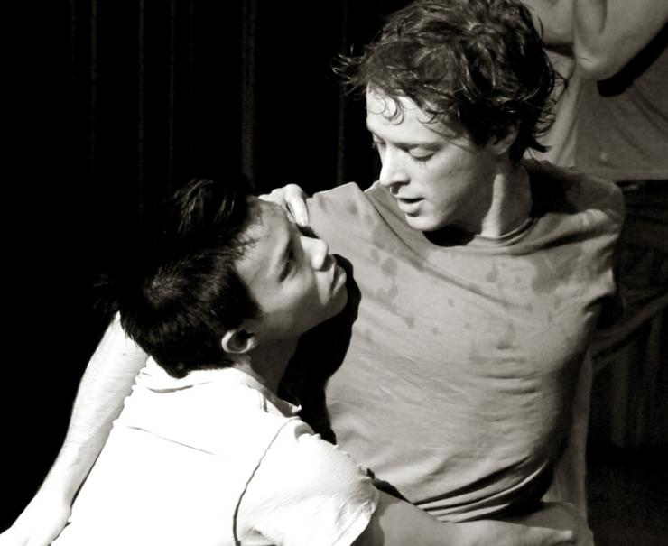Tony Vo and Mickey Rowe in Out of Surface at the Eugene O'Neill Theater Center.