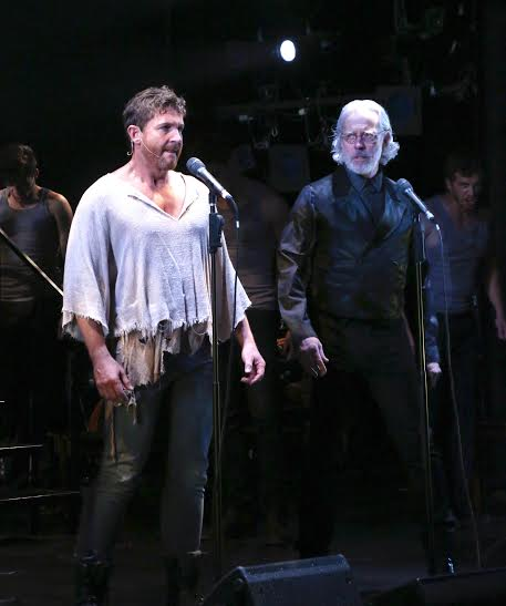 L to R: David Harris (Jean Valjean) and Terrence Mann (Inspector Javert) in LES MISÉRABLES: A Musical Celebration onstage at Connecticut Repertory Theatre's Harriet S. Jorgensen Theatre from May 28 through June 7, 2015.  Tickets and information at crt.uconn.edu or 860-486-2113.  Photo by Gerry Goodstein.