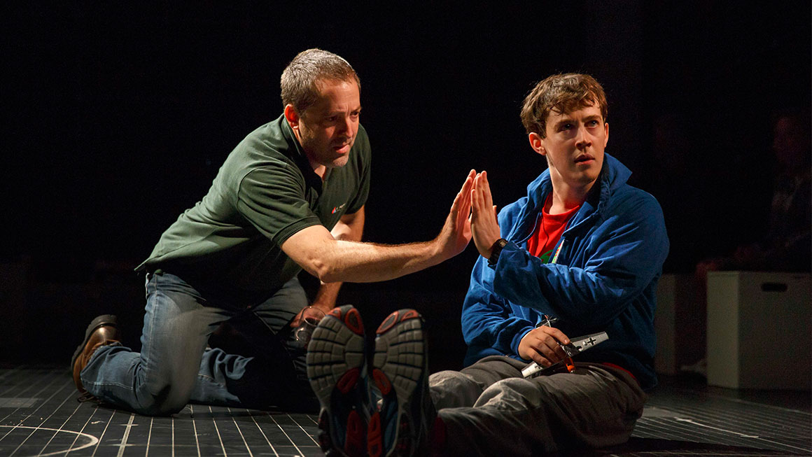 Ian Barford as Ed and Alexander Sharp as Christopher in 'The Curious Incident of the Dog in the Night-Time' Joan Marcus