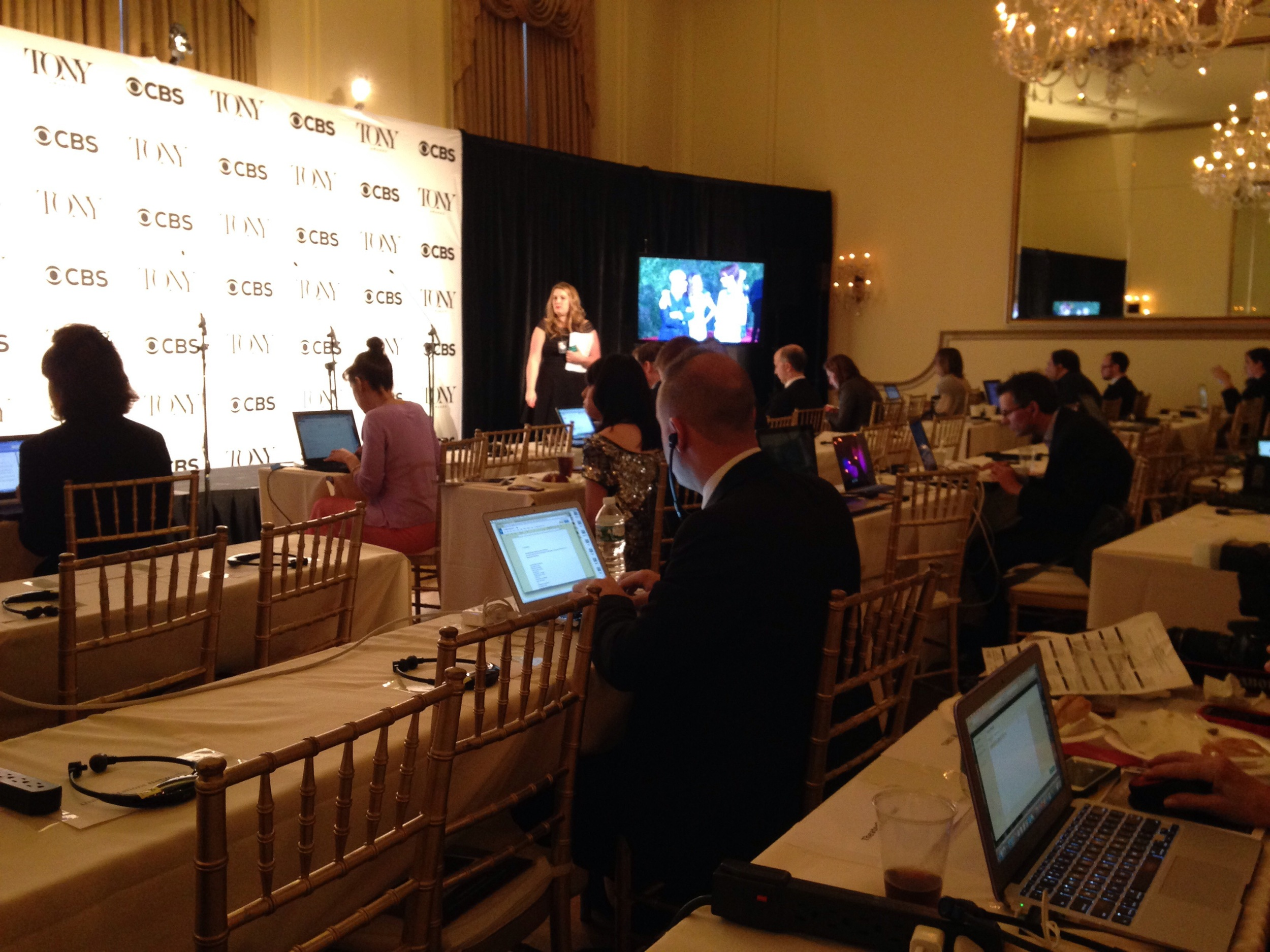 The Press Room before the craziness begins...