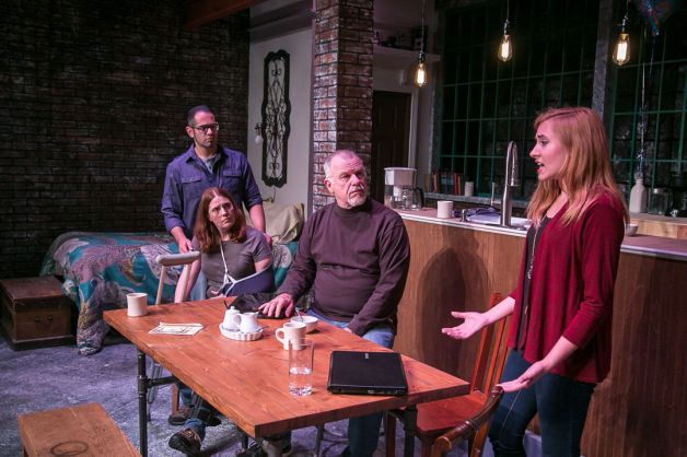 Aaron Kaplan as James, left, Alicia Dempster as Sarah, Will Jeffries as Richard and Erin Shaughnessy as Mandy. Photo: Rich Pettibone