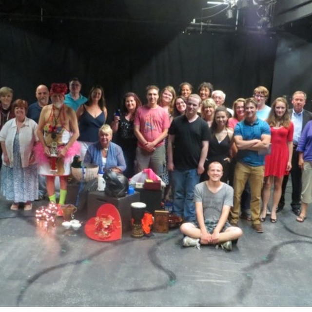 Actors, directors and playwrights in the 24 Hour Play Festival at Playhouse on Park in 2015 (Photo credit: Dawn Loveland)