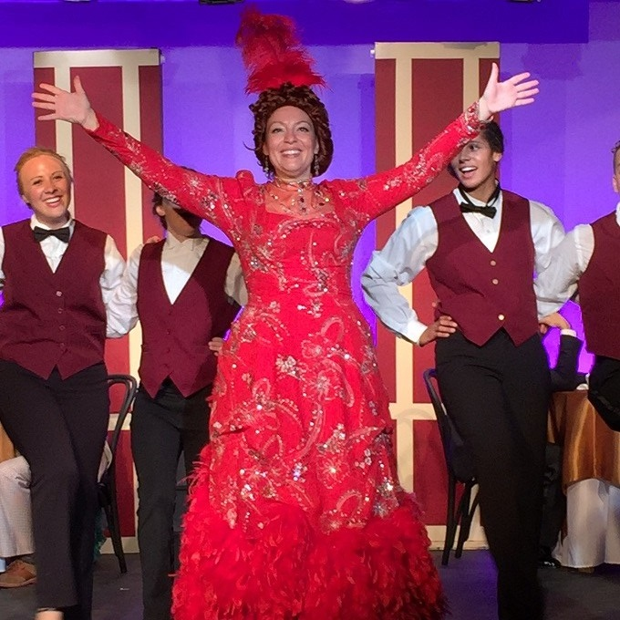 Susan Smith Thom (center) stars as Dolly Gallagher Levi in Castle Craig Players' production of 'Hello, Dolly!' Photo by Ian Galligan
