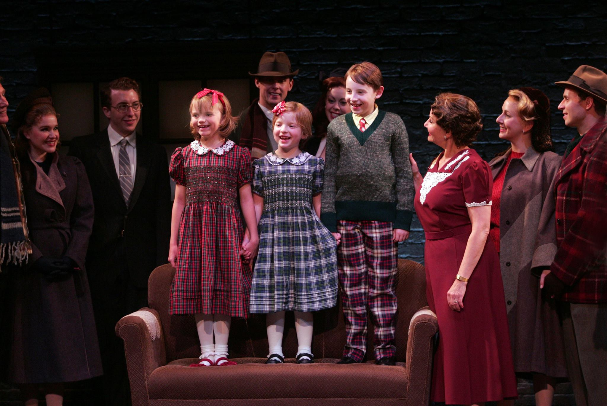 """Christmas Gifts"" The cast of 'A Wonderful Life' Photo by Diane Sobolewski"