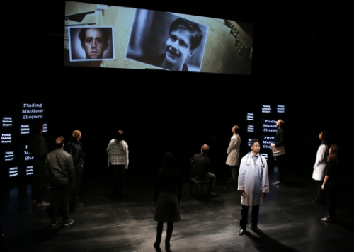 The Connecticut Repertory Theatre's 'The Laramie Project,' at the Nafe Katter Theatre in Storrs. (Gerry Goodstein for UConn)
