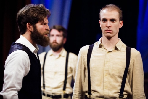 Jeff Marcus (Tereus) & Will Madden (2nd Soldier/ Hippolytus/Male Ensemble) courtesy The Hub Theatre Company