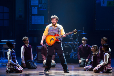 Alex Brightman and the kids of School of Rock - The Musical Photo by Matthew Murphy