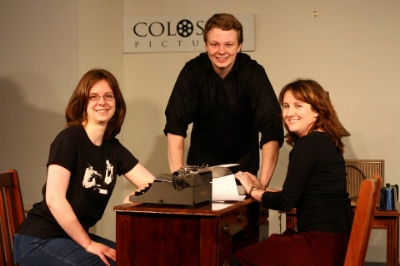 from left to right, Rikki Elizabeth StinnetteTimothy Wier (producer), and Keaghan Wier (co-director).