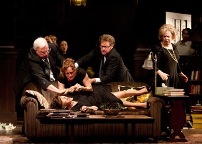 The cast of Tracy Letts' Pulitzer Prize-winning play August: Osage County, directed by Sam Gold, at The Old Globe May 7 - June 12, 2011. Photo by Henry DiRocco.