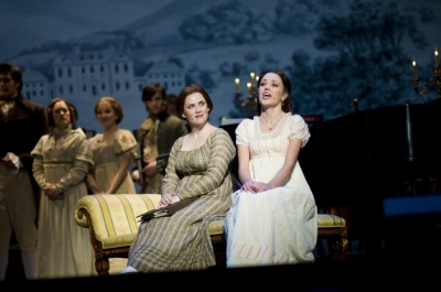 "Donna Lynne Champlin and Laura Osnes in ""Pride & Predjudice: The Musical"" Photos by Gary Geer"