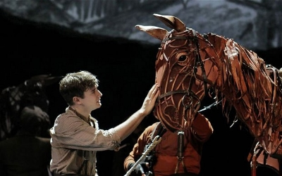 American actor Seth Numrich as Albert, with his horse Joey, in the New York production of 'War Horse' Photo: Credit photo: ©Paul Kolnik