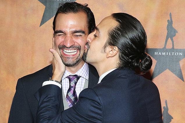 Javier Munoz and Lin-Manuel Miranda