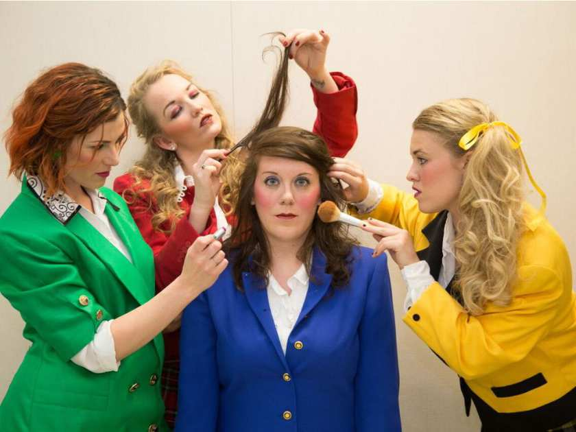 Cappuccino Theatre presents Heathers The Musical starring, from left, Jamie Robinson, Eden Hildebrand, Chelsea Millard and Tanis Laatsch. Photo: CALGARY HERALD
