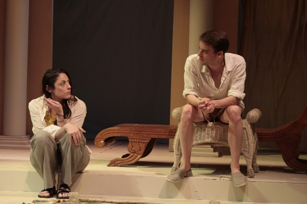 """The Beekeeper's Daughter,"" written and directed by Karen Malpede, presented by Theater for the New City, June 2-26, 2016.  L: Najla Said. R: P.J. Brennan. Photo by Beatrice Schiller."