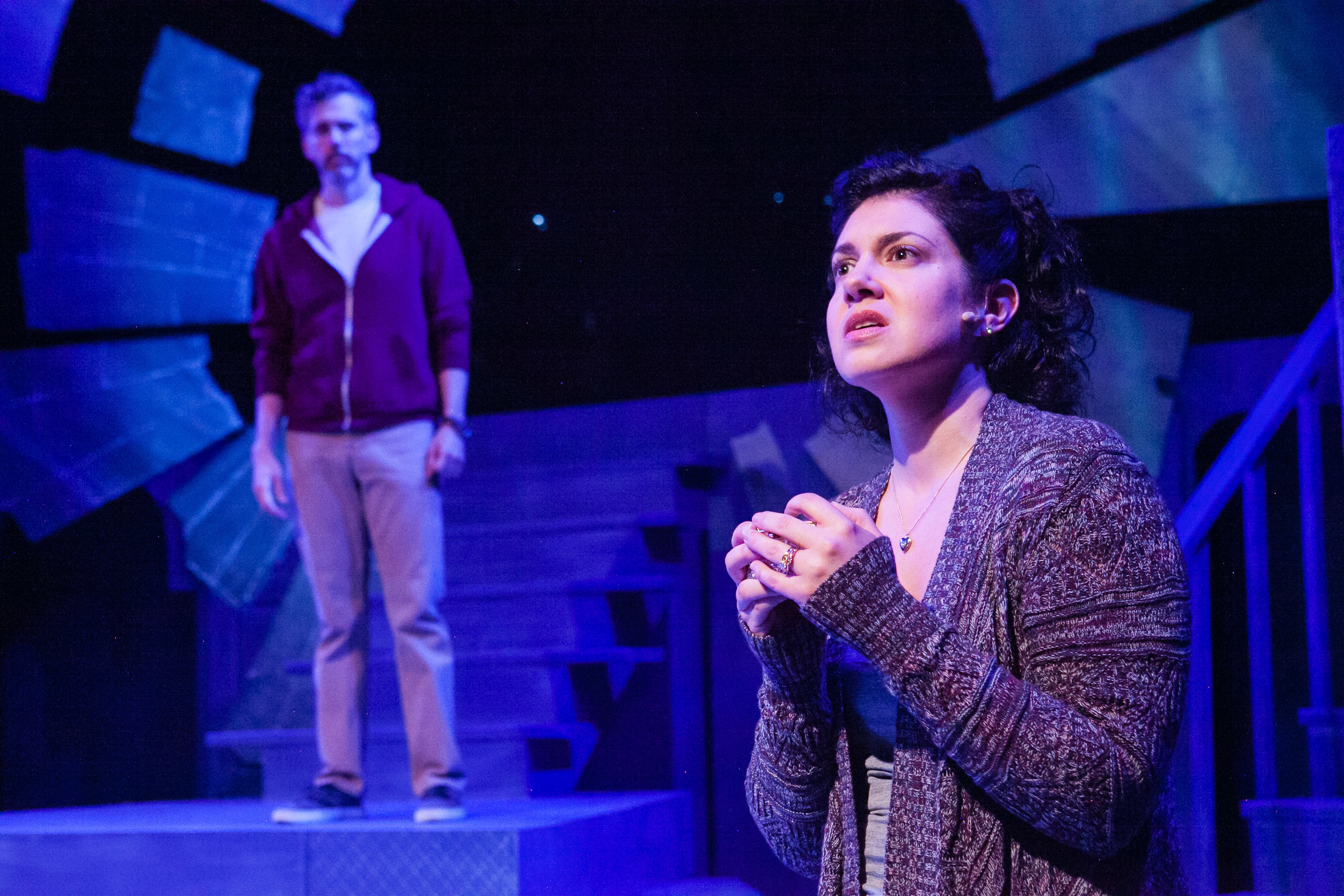 """Chad Wheeler and Kari Ginsburg in """"Next to Normal"""" from The Keegan Theatre. (C. Stanley Photography)"""
