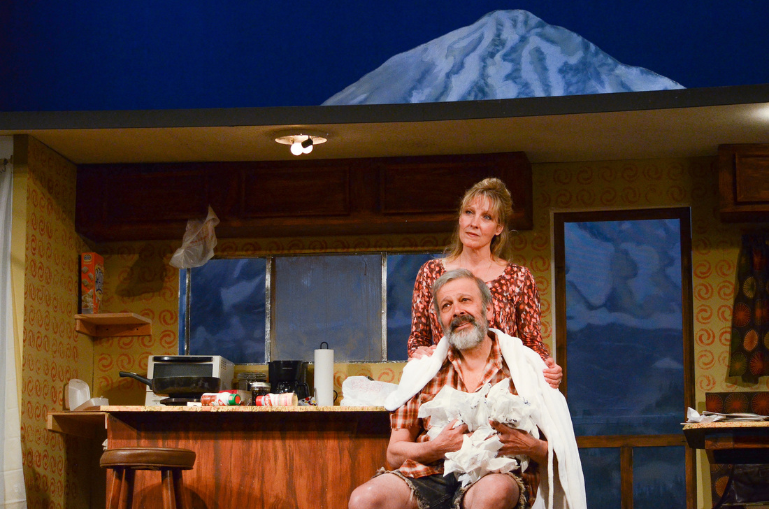 Lisa Bostnar and Gus Kaikkonen in ANNAPURNA. Courtesy Peterborough Players.