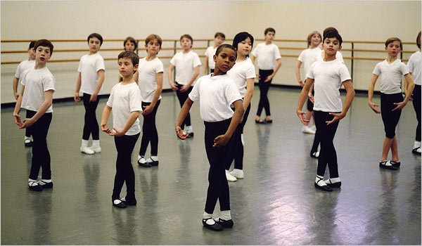 The tuition-free program for younger boys at the School of American Ballet. Credit Ellen Crane