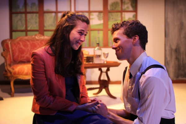 """Lindsay Gitter as """"Rian"""" and Caleb Schaaf as """"Anthony"""" - Photo by Taylor Wobbler"""