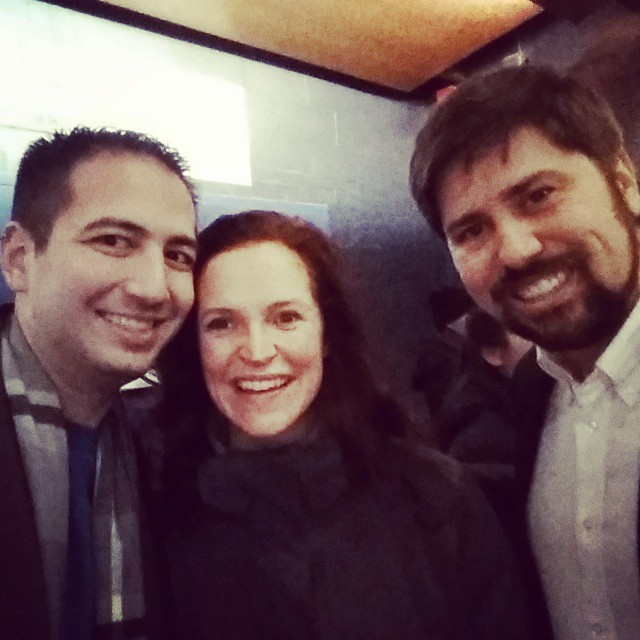 McLean with writer Matthew Blank and the inevitable Martin Giannini