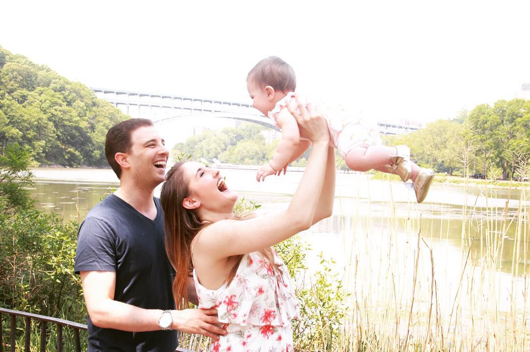"""""""Goldberg with husband Adam and young daughter Lyla"""""""