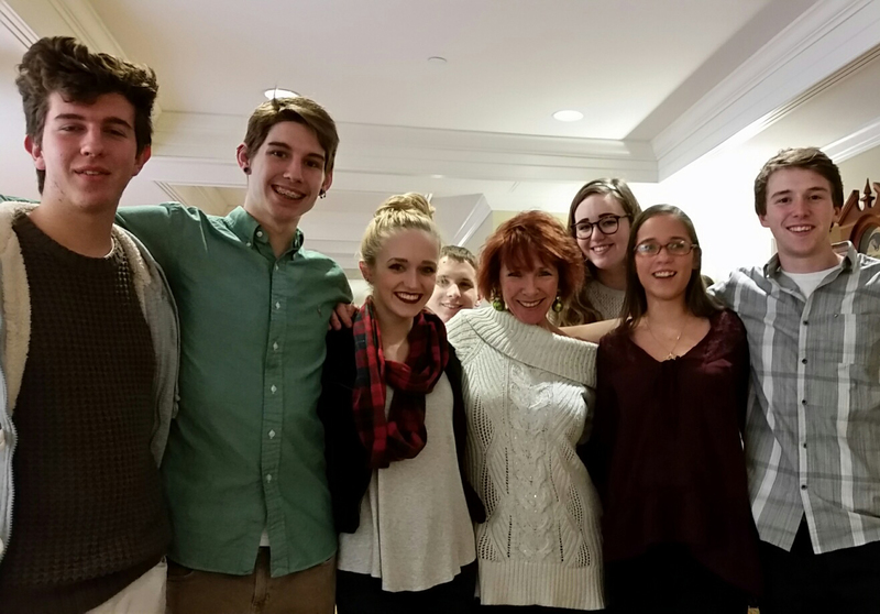 Martha Pfeiffer(Center)and her students
