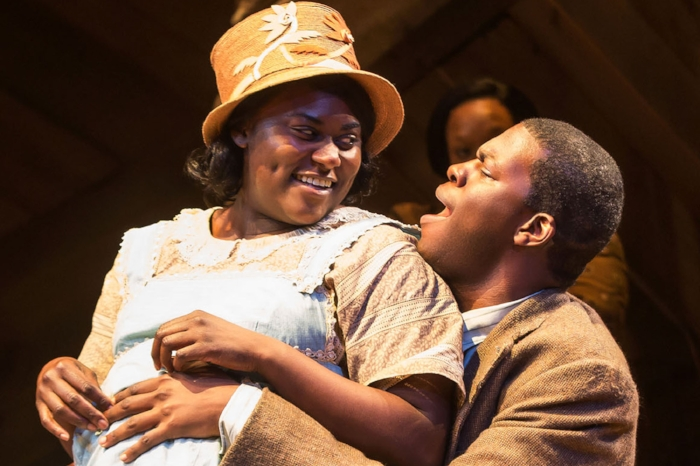 Danielle Brooks and Kyle Scatliffe in The Color Purple / Matthew Murphy