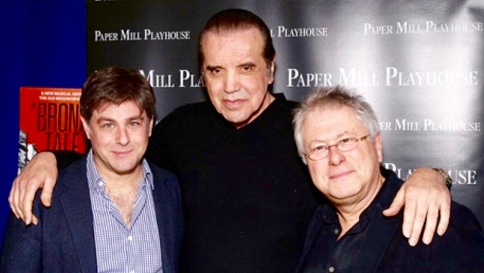 Glenn Slater with Chazz Palminteri and Alan Menken