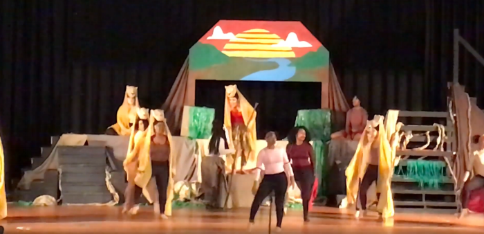 An image of a performance of The Lion King at Nansemond River High School.