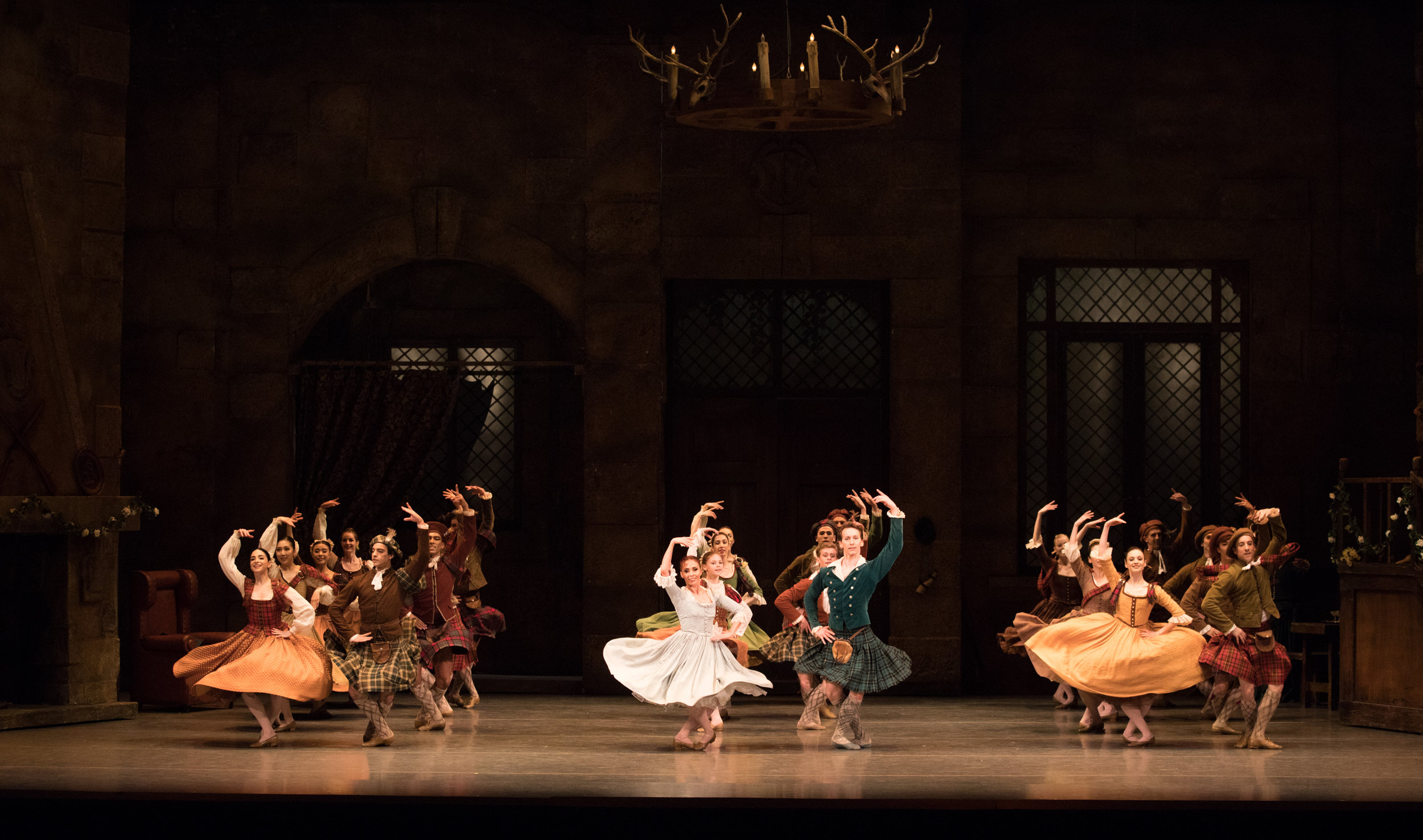Photo Credit: Boston Ballet in August Bournonville's La Sylphide; photo by Rosalie O'Connor, courtesy Boston Ballet.