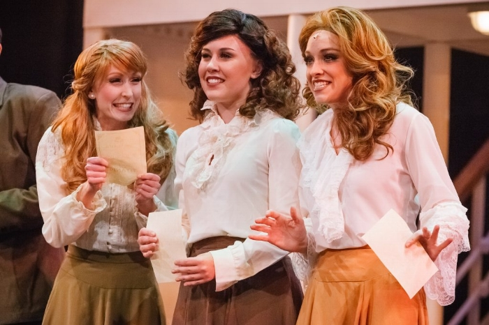 Sunny Gay, Casey Sacco and Mallory Newbrough in Titanic. (Photo by Jim Hall)