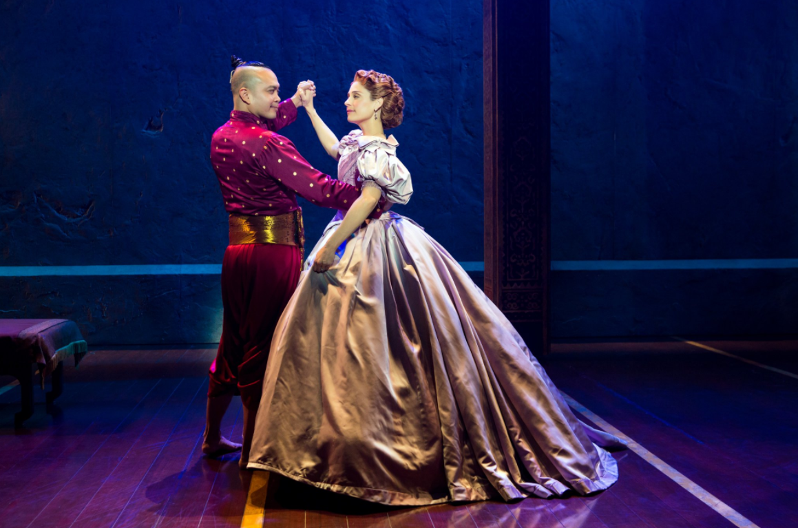 Photo of Elena Shaddow and Jose Llana in the US tour of Rodgers & Hammerstein's The King and I by Jeremy Daniel.