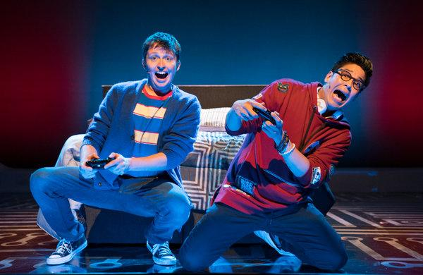 Will Roland and George Salazar in Be More Chill (Sara Krulwich/NY Times