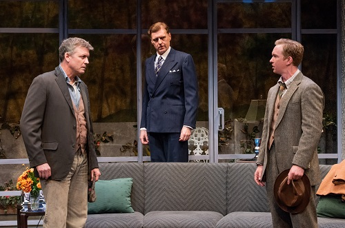 """Photo: Chris Henry Coffey, Ted Deasy, and Roderick Hill in """"Days to Come."""" Credit: Mint Theater Company."""