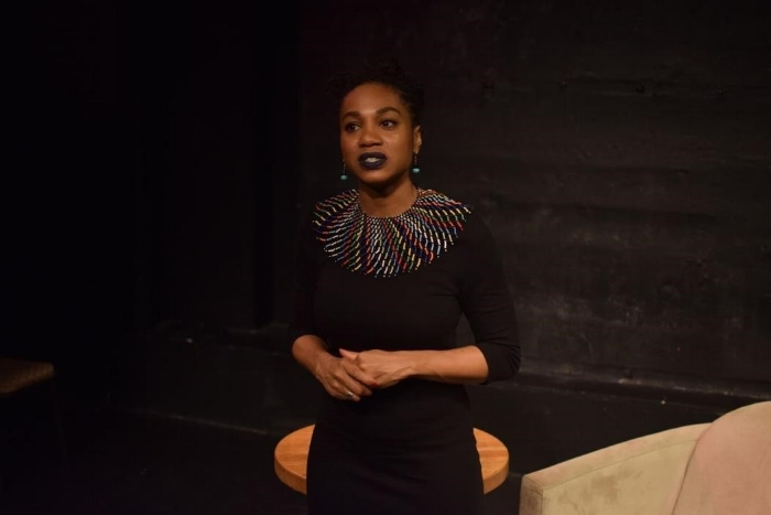 Christine Anglin performing in Testimony. Photo by Christian Roberson