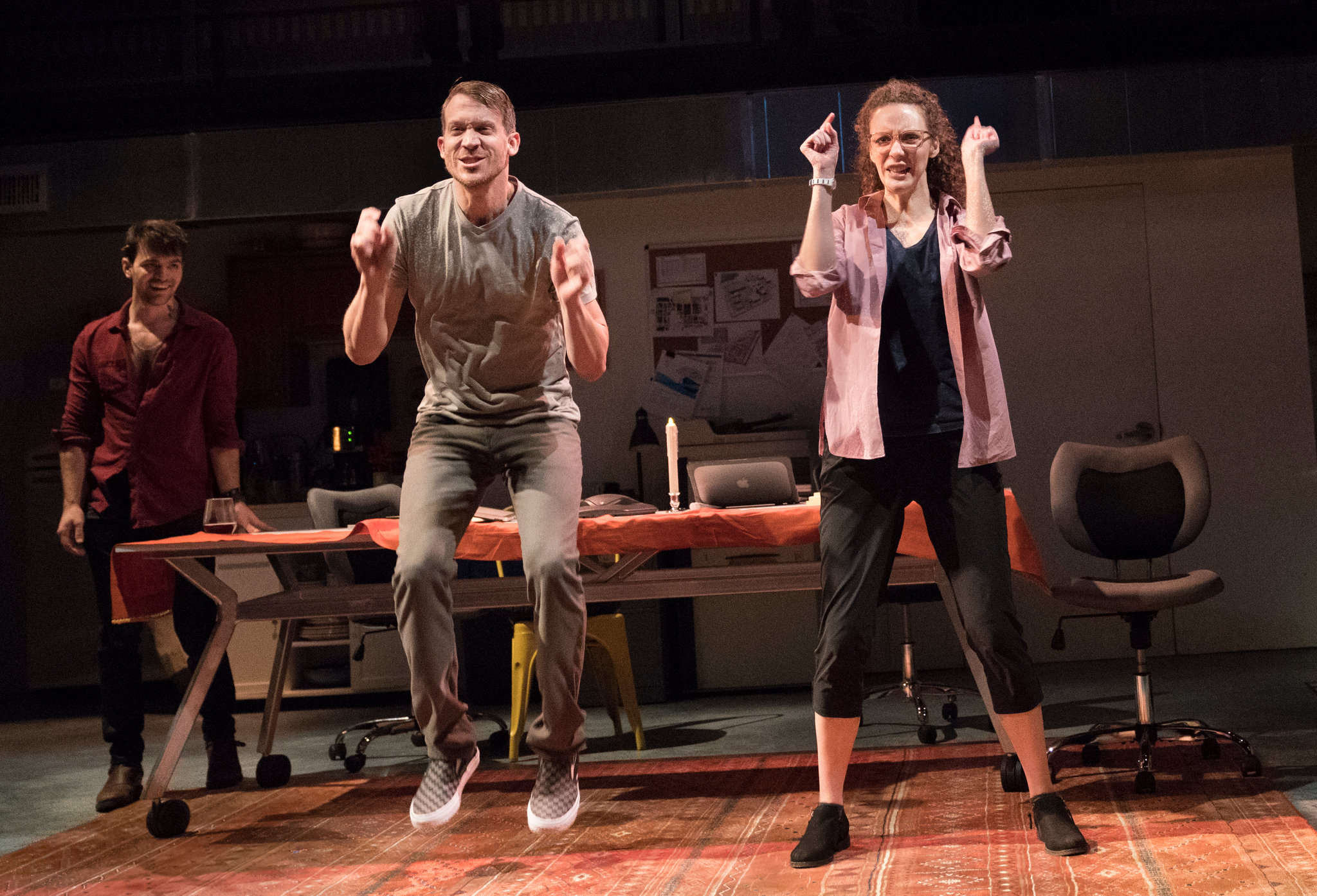"From left, Tad Cooley, Russell Harvard and Marianna Bassham in ""I Was Most Alive With You,"" by Craig Lucas, at Playwrights Horizons.CreditCreditSara Krulwich/The New York Times"