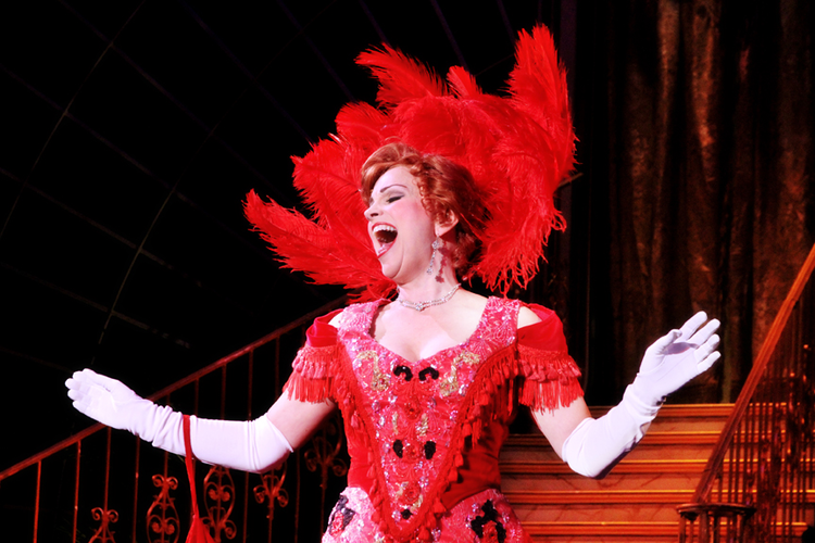 "PHOTO CREDIT: JACQUELYN PIRO DONOVAN AS ""DOLLY GALLAGHER LEVI"" IN HELLO, DOLLY! AT NORTH CAROLINA THEATRE, 2011. CURTIS BROWN PHOTOGRAPHY."