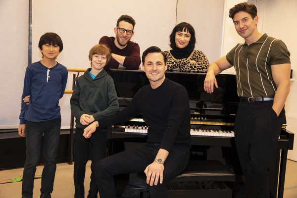 The Cast of the National Tour of Falsettos - Nick Adams, Max von Essen, Nick Blaemire and Eden Espinosa, Thatcher Jacobs and Jim Kaplan
