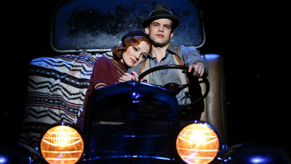Jordan with Laura Osnes in Bonnie & Clyde