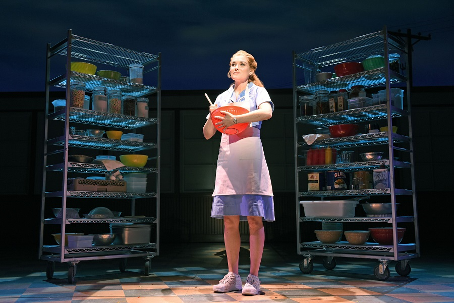 Christine Dwyer as Jenna in Waitress Credit Tim Trumble