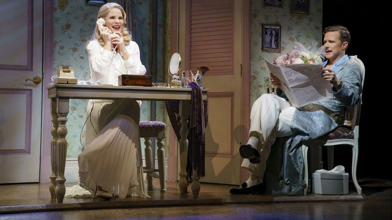 "Kelli O'Hara and Will Chase in the Roundabout Theatre Company production of ""Kiss Me, Kate"" at Studio 54 (Joan Marcus)"