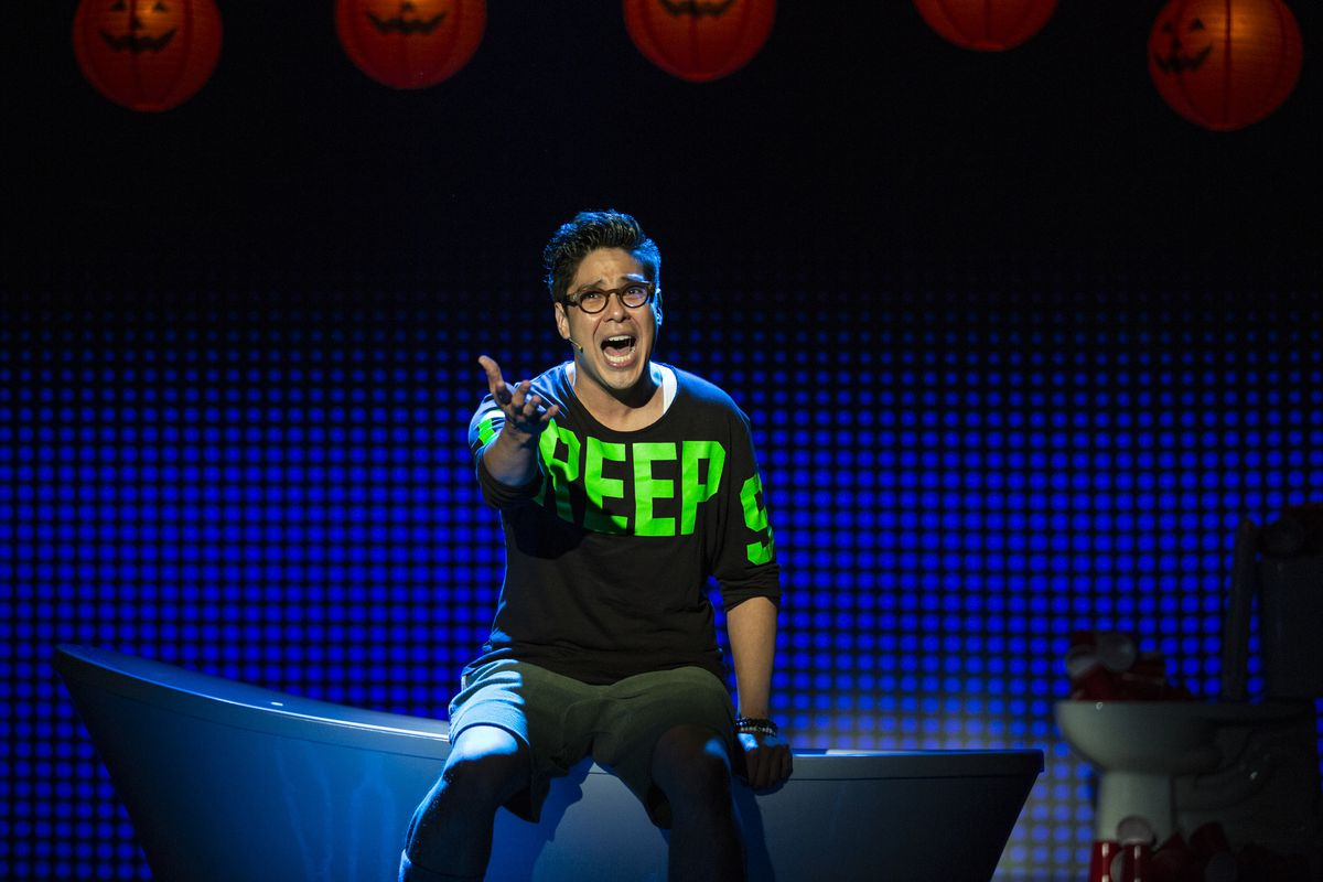 "George Salazar in ""Be More Chill"" (Photo by Maria Baranova)"