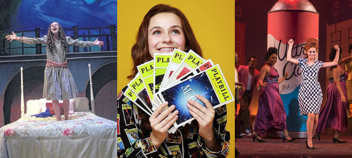 Emerson as Sara Crewe in Theatrical Outfit's A Little Princess, a promo for her  Feinstein's/54 Below show , and as Penny Pingleton in Summer Lyric Theatre's Hairspray