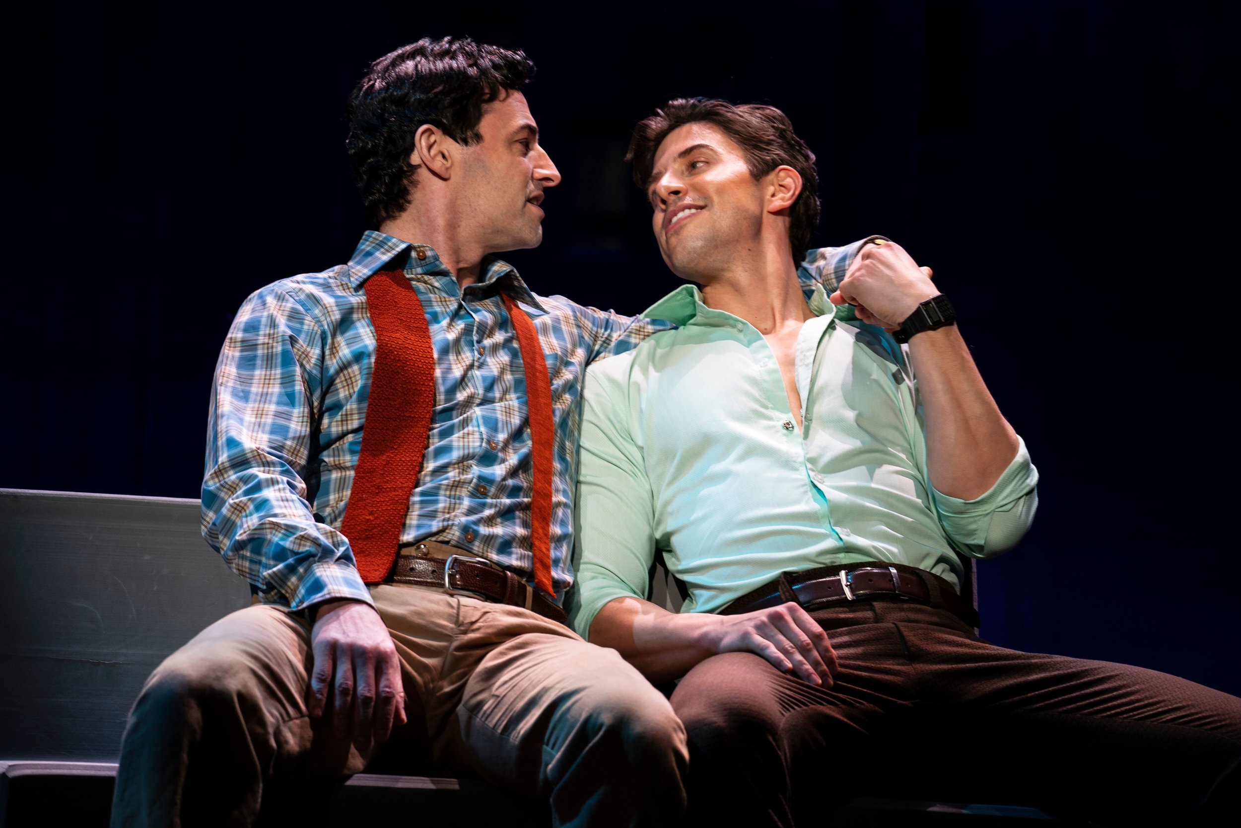 Max von Essen and Nick Adams in  Falsettos  (photo by Joan Marcus)