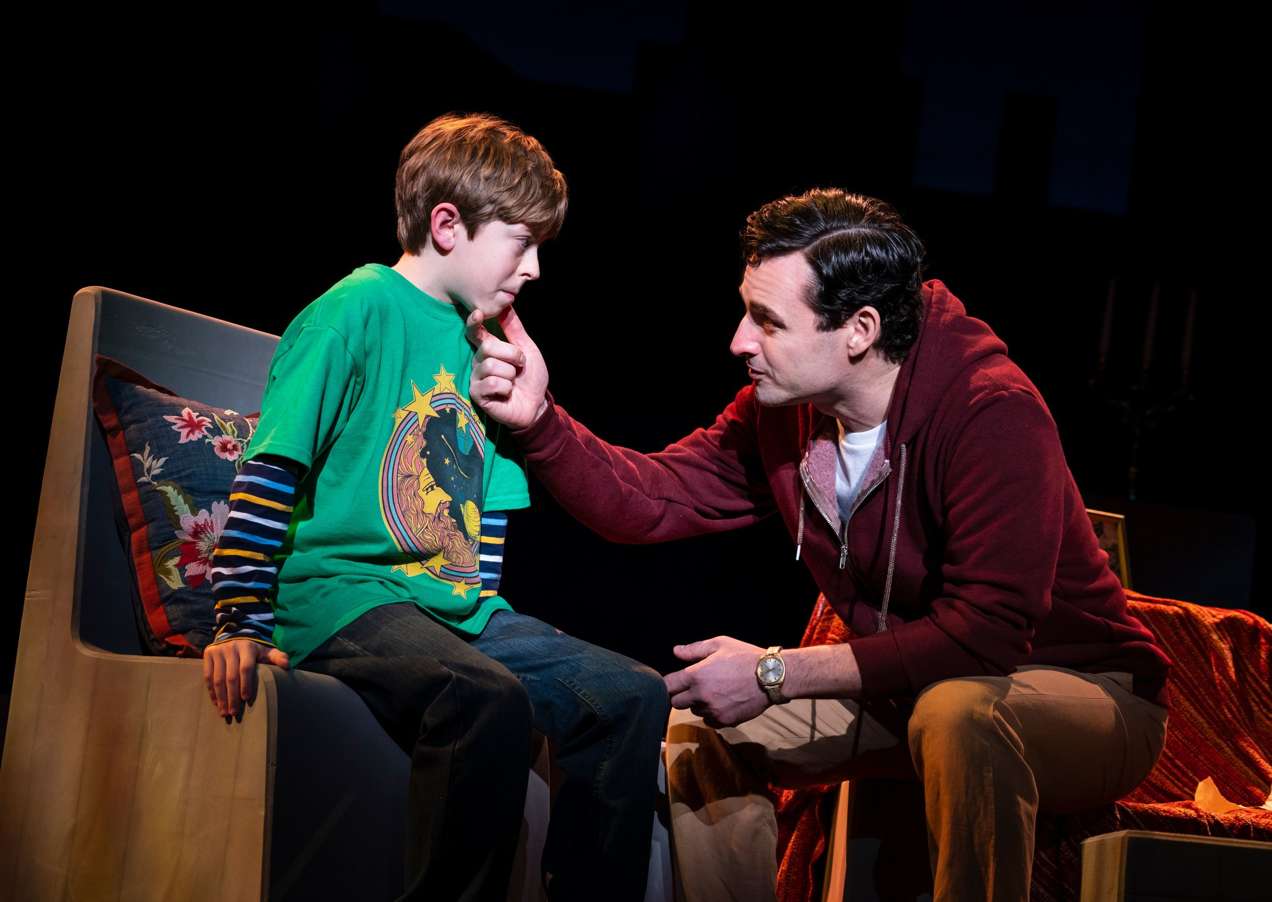 Max von Essen and Thatcher Jacobs in Falsettos (photo by Joan Marcus)