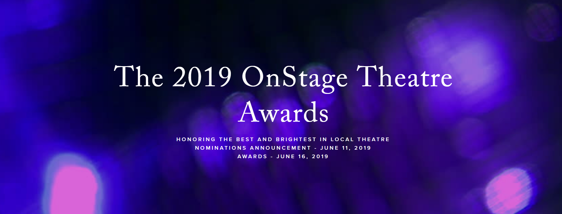 The 2019 OnStage Theatre Awards — OnStage Blog
