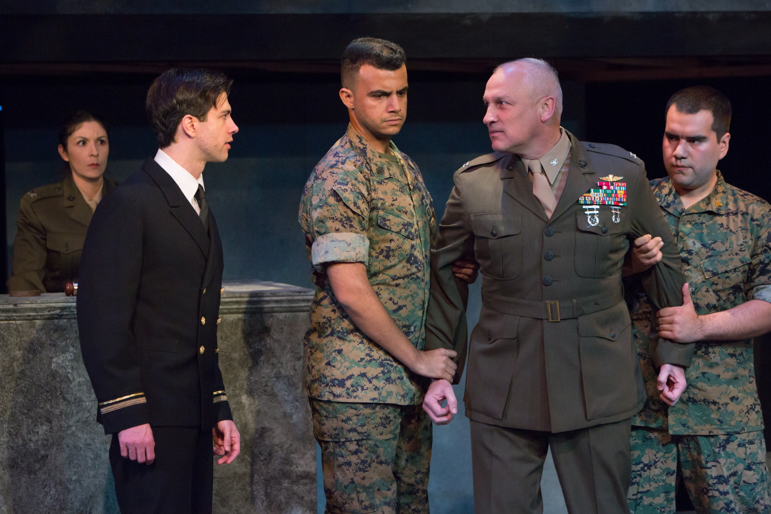Cast of A Few Good Men @ Hillbarn Theatre
