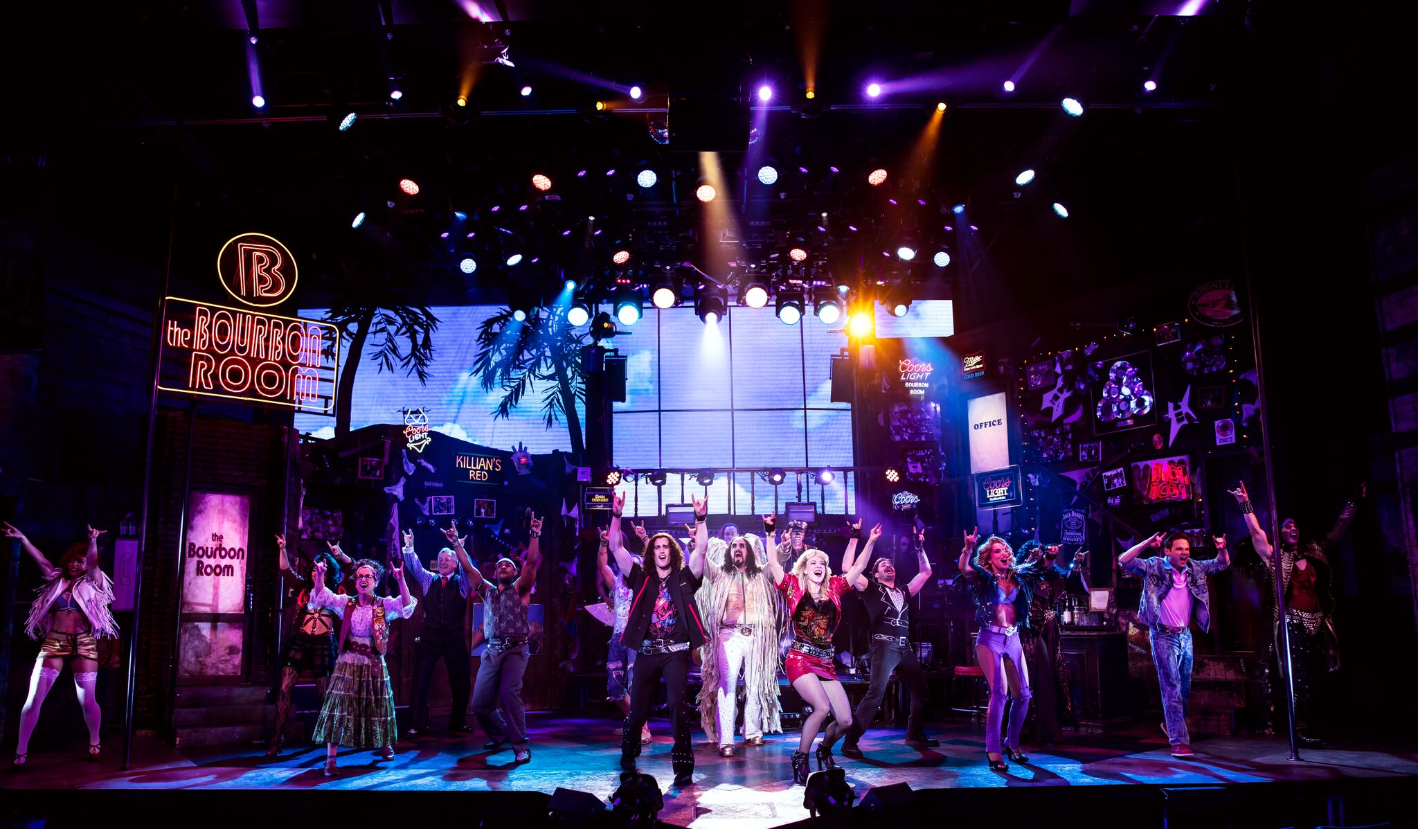 The cast of Rock of Ages (photo by Matthew Murphy)