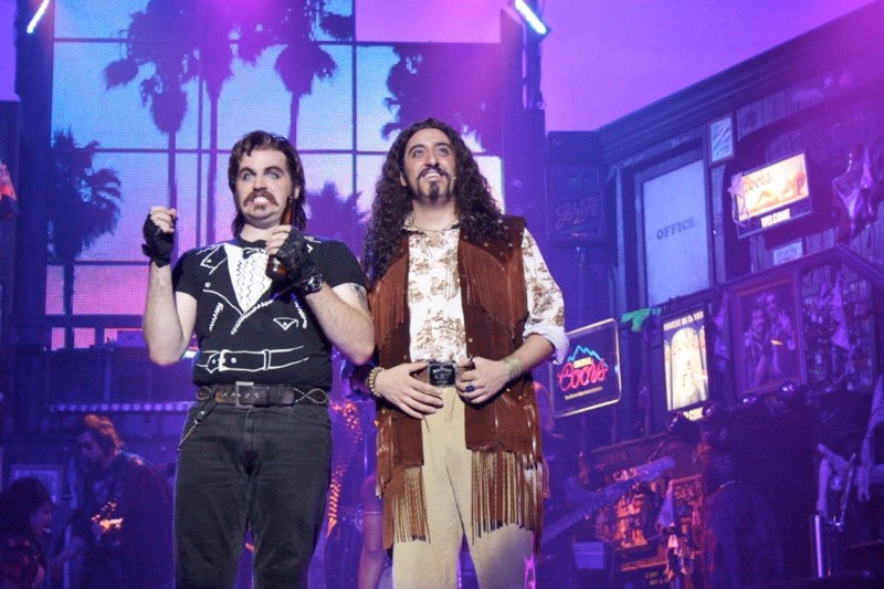 Justin Colombo and Matt Ban in Rock of Ages