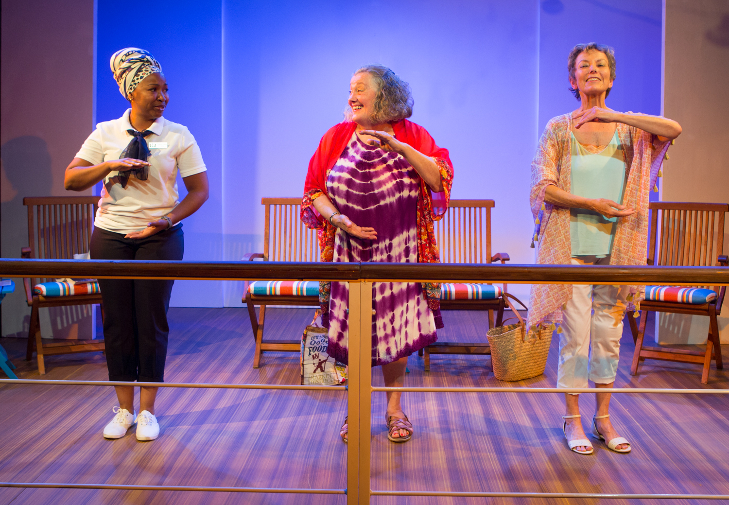 """Wendy Elizabeth Abraham, Jayne Taini and Jean Gilpin star in the Moving Arts world premiere production of """"Early Birds"""" by Dana Schwartz, directed by Elizabeth Swain and now playing at the Atwater Village Theatre. Photo: Benjamin Simpson."""
